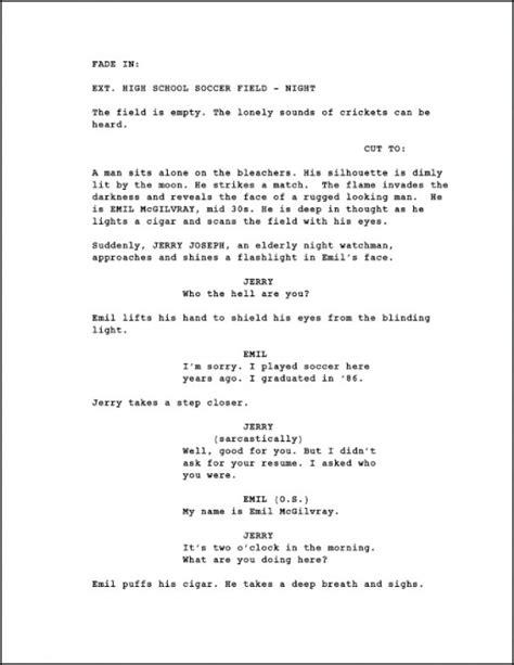 script format template image gallery script format