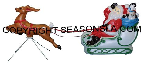 santa sled sleigh and reindeer decoration s by