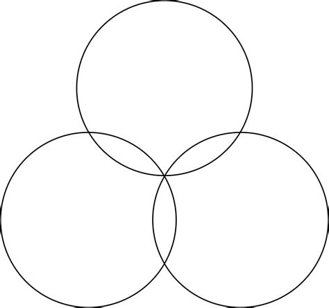 venn diagram 3 circles blank venn diagram 3 circles clipart best