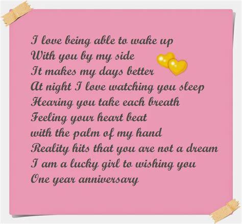 happy one year anniversary poems for boyfriend