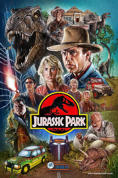 misteri film jurassic park jurassic park movie poster on behance