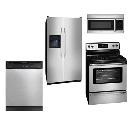4 piece stainless steel kitchen appliance package frigidaire 4 piece kitchen package