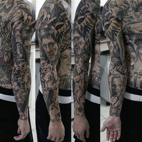 scarface tattoo designs 40 scarface design ideas for al pacino ink