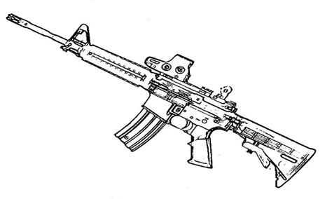 coloring pages guns machine gun coloring pages