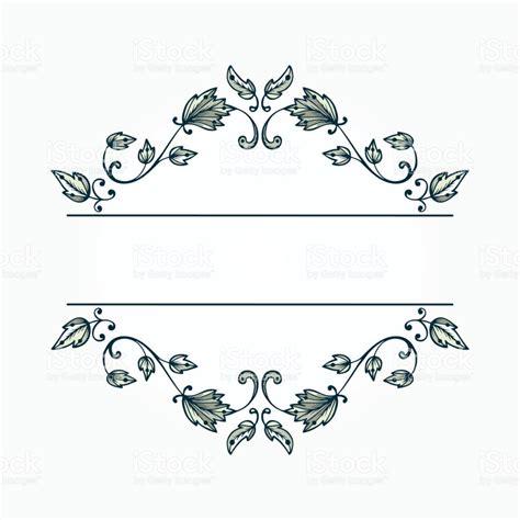 Wedding Vintage Border Design by Vintage Floral Pattern Border For Design Floral
