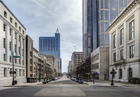 view of downtown raleigh carolina royalty free