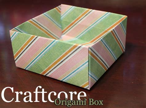 Origami Scrapbook - how to make an origami box out of scrapbook paper craftcore
