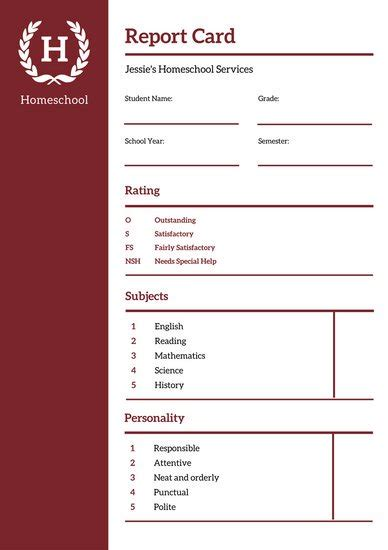 report card template college blue college report card templates by canva