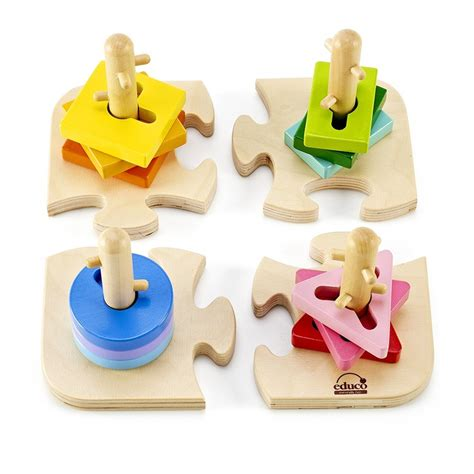 I Do 4 By Hape creative peg puzzle toddler wooden 3d puzzle educational toys planet