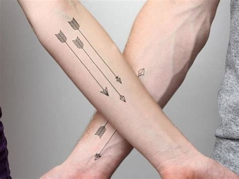 men and women show best arrow tattoo design ever photos