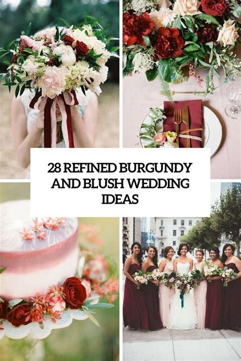 maroon, plum,and blush bridal shower decorating ideas