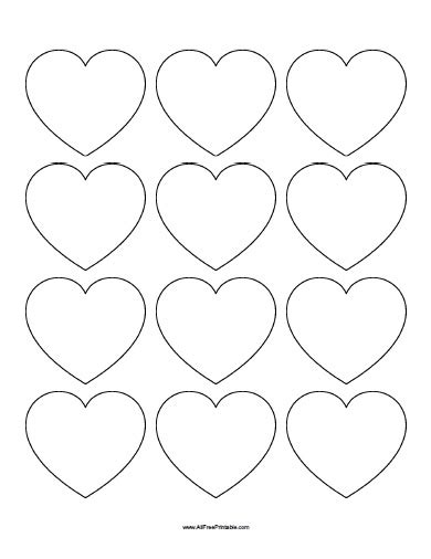 small template to print small hearts templates free printable allfreeprintable