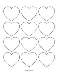 small template printable free small hearts templates free printable allfreeprintable