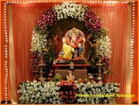decoration for ganesh festival at home ganpati decoration ideas ganesh decoration photos
