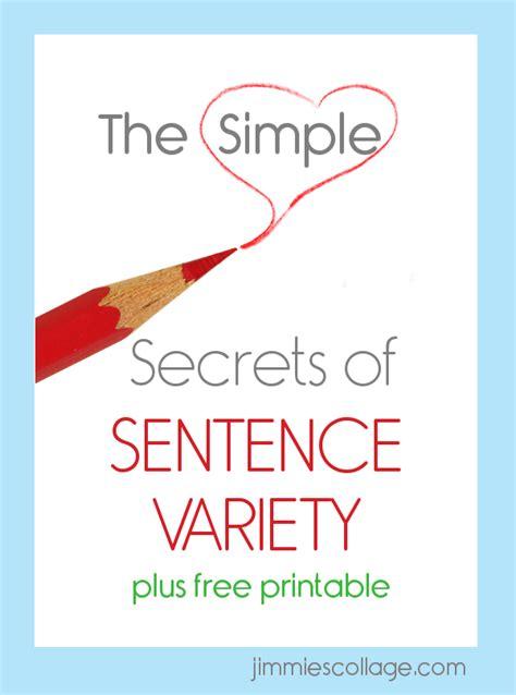 The Simple Secrets Of Sentence Variety | the simple secrets of sentence variety
