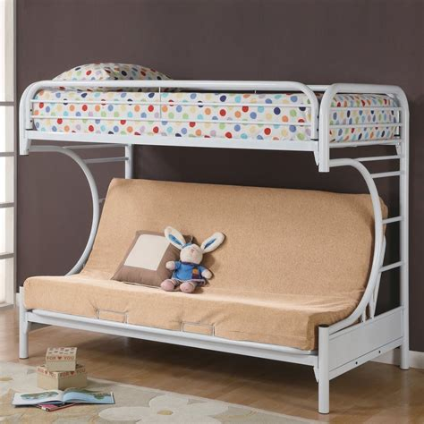 twin over futon bunk bed coaster fine furniture 2253w twin over futon quot c quot bunk bed