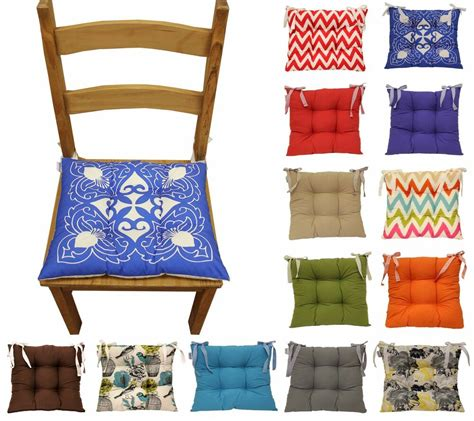 seat pads dining room chairs colourful seat pad dining room garden kitchen chair