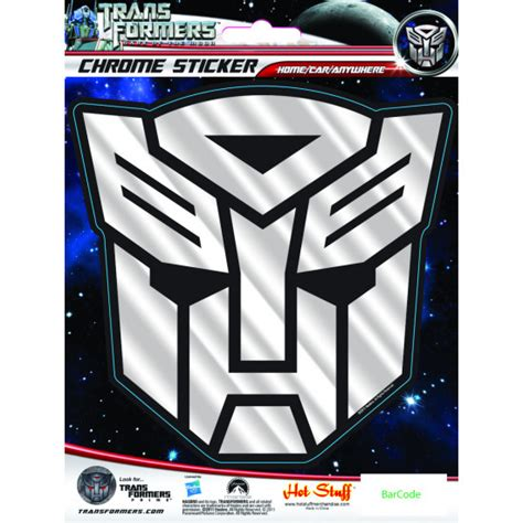 Sticker Transformer Autobot T001 hotstuff transformers autobots logo chrome sticker