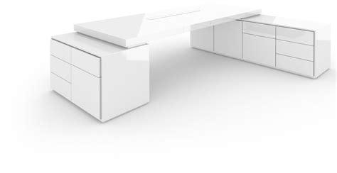 Design Executive Corner Desk With Sideboards White Piano Felix Corner Desk