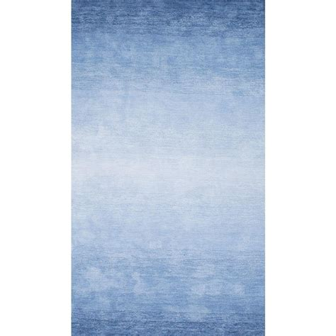 Blue Accent Rug by Nuloom Ombre Bernetta Blue 5 Ft X 8 Ft Area Rug Awve18b