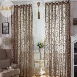 livingroom curtain high quality birds nest pattern window screens decorative sheer curtain panel for living room