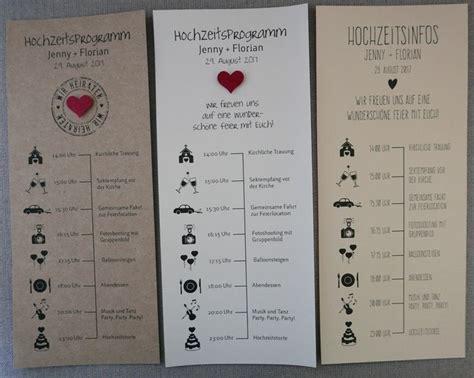 Hochzeitseinladung Tagesablauf by Individuelles Hochzeitsprogramm Tagesablauf Mit Zeitplan