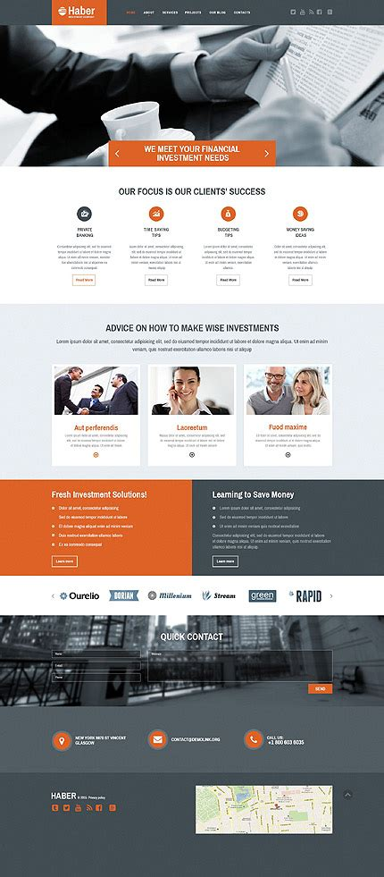 web layout javascript business type website templates template 53976
