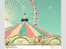 Vintage Carousel And Ferris Wheel Stock Image - Image of ... Ferris Wheel Vector Free Download