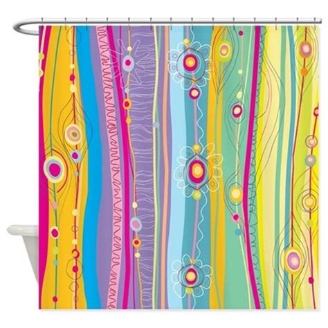Funky Shower Curtains Funky Stripes Shower Curtain By Bestshowercurtains