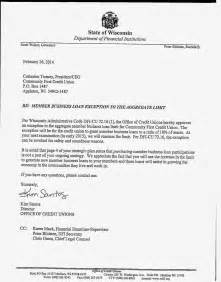 Business Loan Approval Letter Keith Leggett S Credit Union Community Cu S Mbl Exception