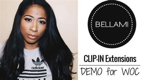 bellami hair extensions for black women bellami clip in extension hair tutorial for woc rae west