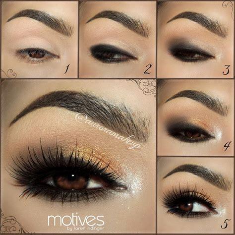 tutorial makeup smokey eyes golden smokey eye i love cute makeup