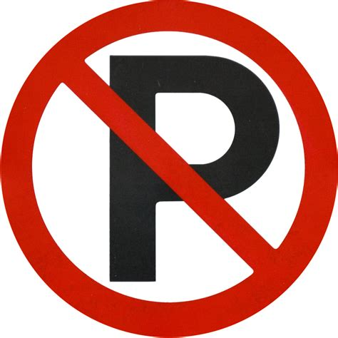 no template no parking sign template clipart best