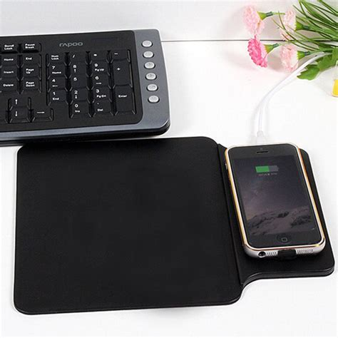 Cell Phone Mat Charger by Mouse Pad Qi Wireless Charger Charging Mat For Mobile