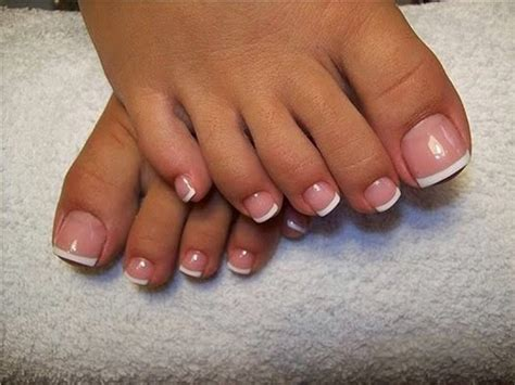 classic french white gel pedicure needy nails taupo