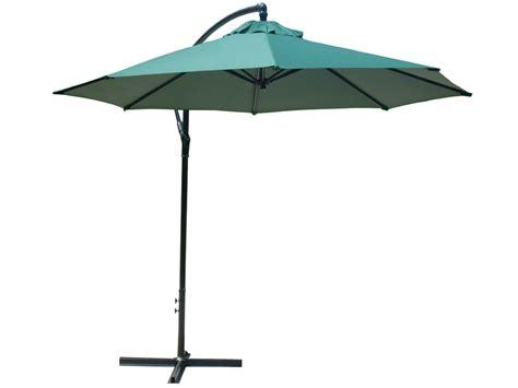 Sun Umbrella Patio Foxhunter 3m Garden Parasol Patio Sun Shade Banana Hanging Crank Umbrella Green Ebay