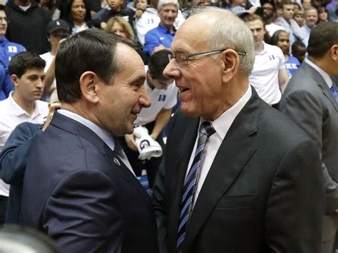Coach Top Leader In Handle syracuse s boeheim i could handle coach k in a shooting contest thescore