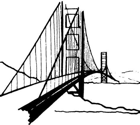 printable coloring pages golden gate bridge golden gate bridge clip art cliparts co
