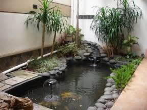 Beautiful Wall Mural Designs inspiring indoor garden design with pond 2960