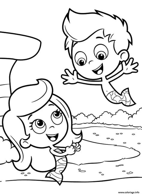 bubble kitty coloring page coloriage bubble guppies printable 7 jecolorie com