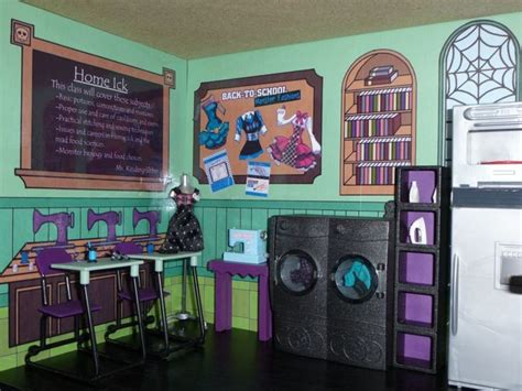 monster high school doll house monster high school doll house bookcase kit mad science home ick playset monster