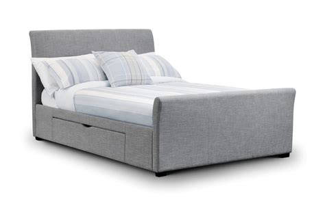 grey bed julian bowen 4ft6 grey fabric bed with 2 drawers beds direct warehouse