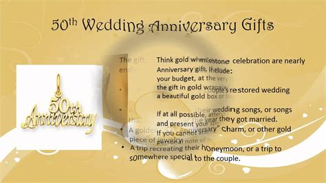 Golden Jubilee Wedding Anniversary Wishes For Parents by 50th Wedding Anniversary Gift Ideas