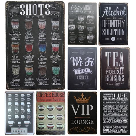tin home decor vintage bar signs reviews online shopping vintage bar