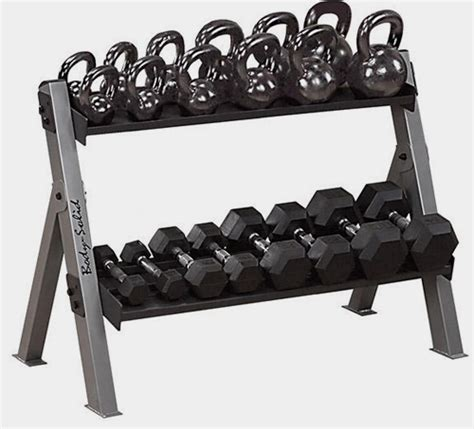 solid dual dumbbell kettlebell rack gymstore