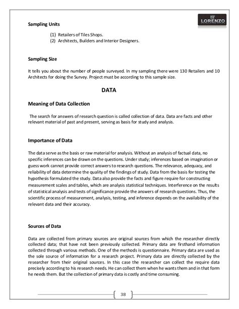 a project report on identification and enhancement of retail network