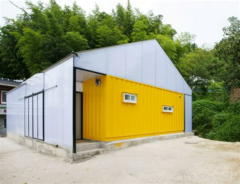 low cost house in a house made of 2 shipping containers