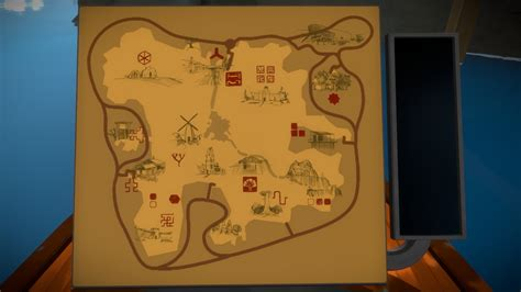 the witness island map with location of each area mechanics