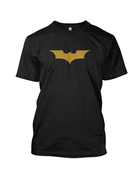 Tshirt Batmen Gold batman logo mens t shirt gold silver all sizes ebay