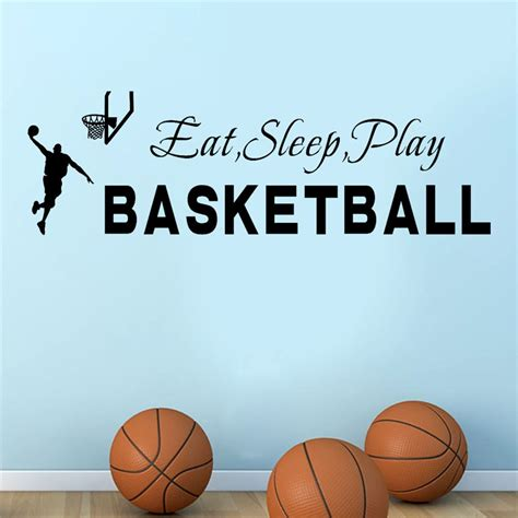 aooyou lovely pets hot selling eat sleep play basketball quotes wall sticker decal home boys